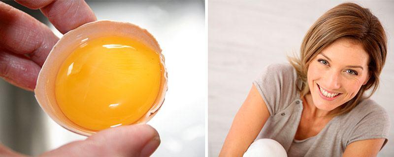 Яичный желток и девушка