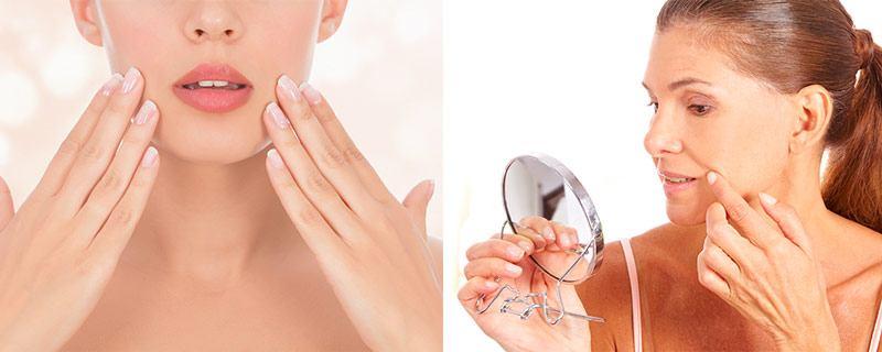 Массаж против носогубных морщинок