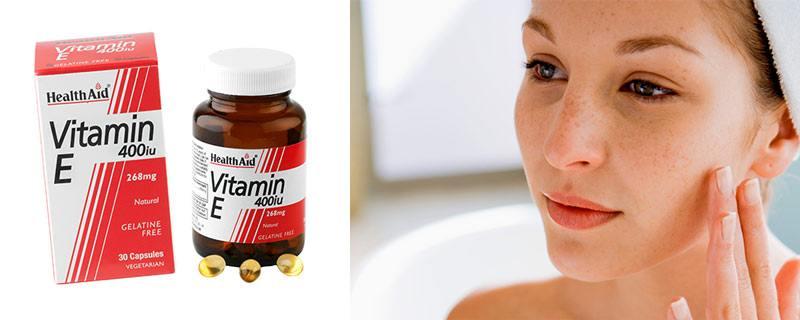Витамин Е для лица против морщин